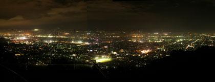 普段の甲府盆地夜景